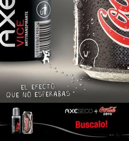 Coca-Cola zero y Axe