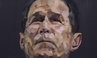 Retrato de Bush hecho con material pornográfico