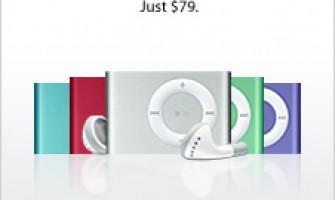 Nuevos colores para iPod Shuffle