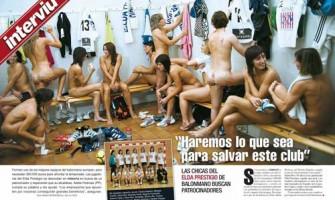 Equipo se desnuda para encontrar patrocinador