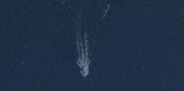 Un calamar gigante en Google Maps