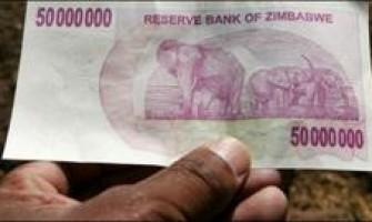 Billete de 250 millones en Zimbabue