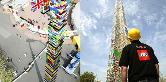 La torre más grande de Legos