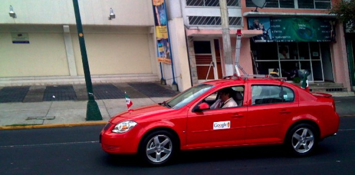 Otro auto de Google Street View visto en México