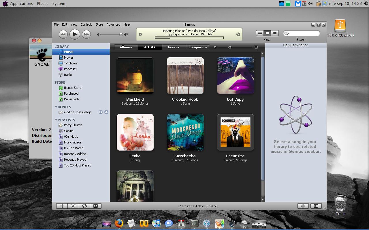 Usando iPod con iTunes desde Linux
