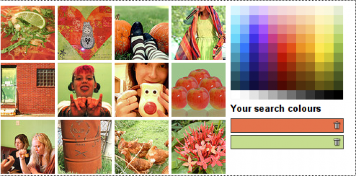 Flickr por colores
