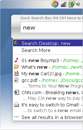 Google Desktop para Linux