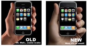 Apple usa modelos de manos gigantes