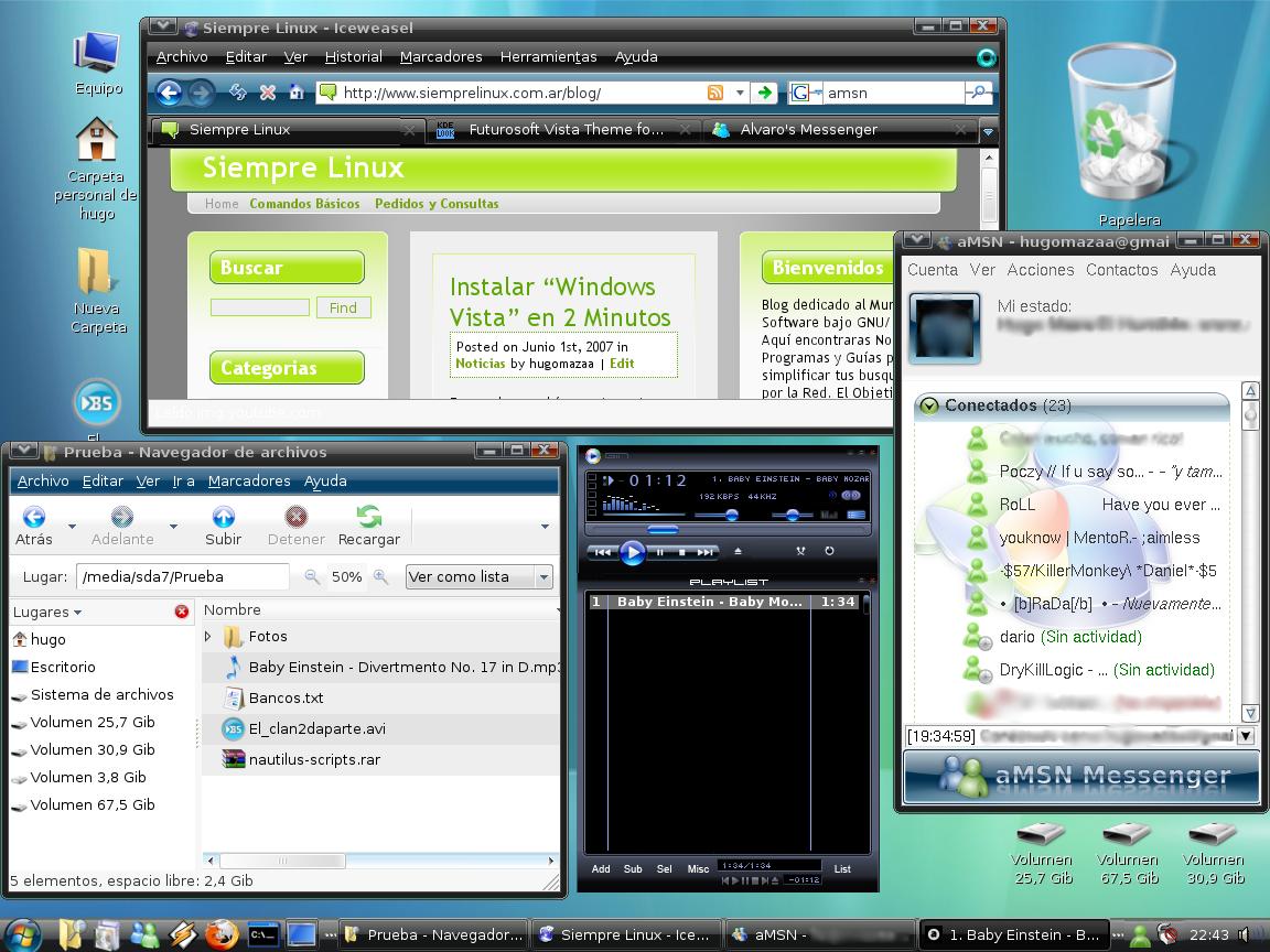 Gnome a la Windows Vista