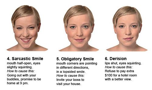 Decifra las expresiones faciales de la mujer