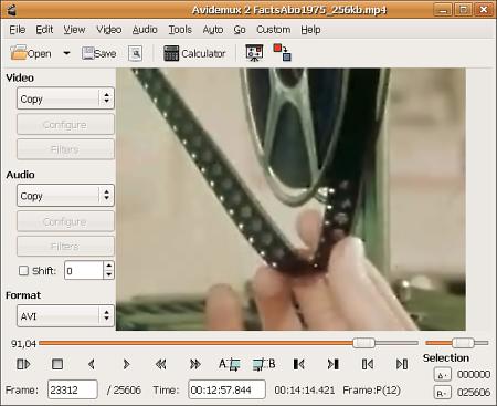 Edita video con Avidemux