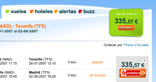 MiNube.com, buscador de vuelos