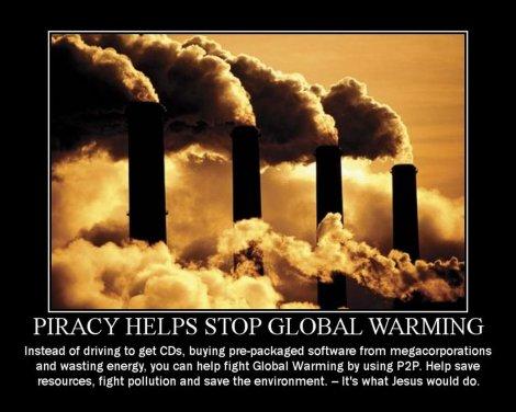 La piratería detiene el calentamiento global