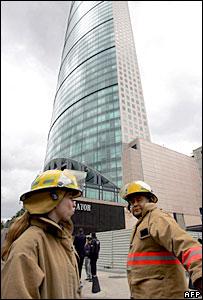 Amenaza de bomba en la Torre Mayor