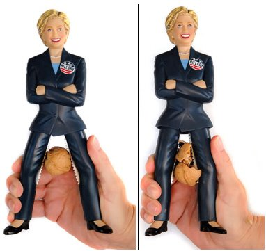 Hillary Clinton, la cascanueces…