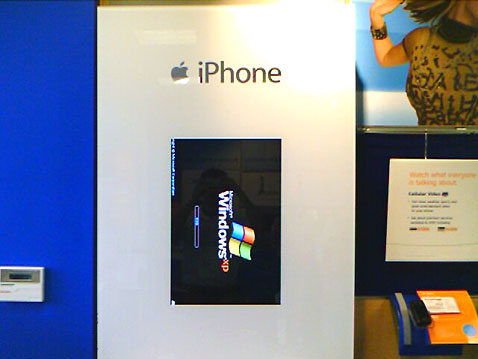 Windows para promocionar el iPhone