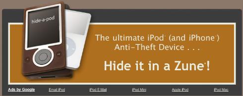 Esconde tu iPod en un Zune