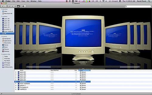 Así se ve Windows desde Leopard