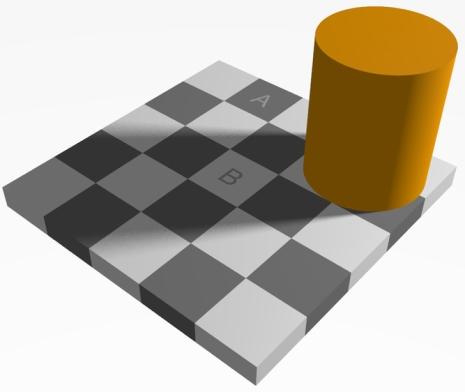 Cuadrados del mismo color que no parecen del mismo color