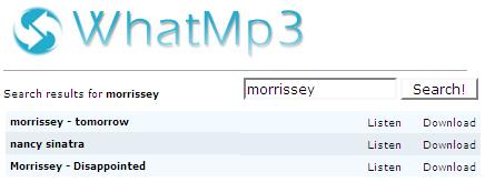 WhatMp3.net, el mejor buscador de mp3 (a la fecha)