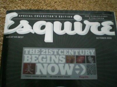 La primera revista con portada en tinta electrónica (e-ink)