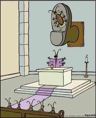 Si las cucarachas tuvieran su religión…