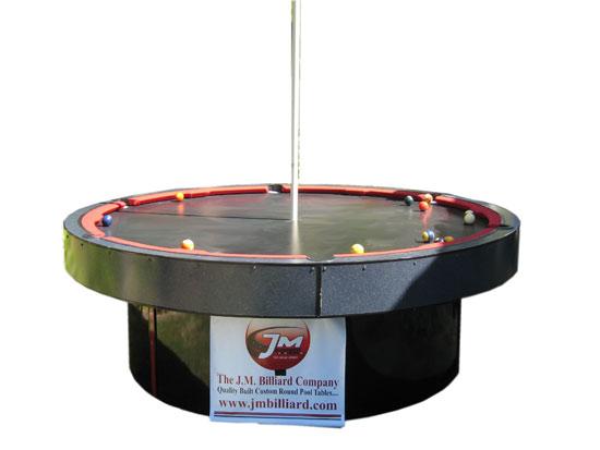 Mesa de billar redonda y con tubo para Table Dance