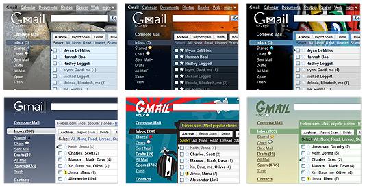 Gmail ahora con temas!!!