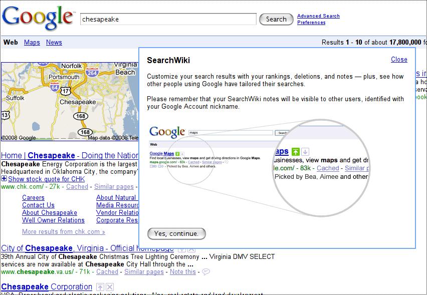 SearchWiki, personalizando los resultados de Google