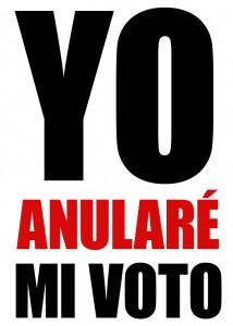 "Tamaño completo ""Yo Anularé mi voto"""